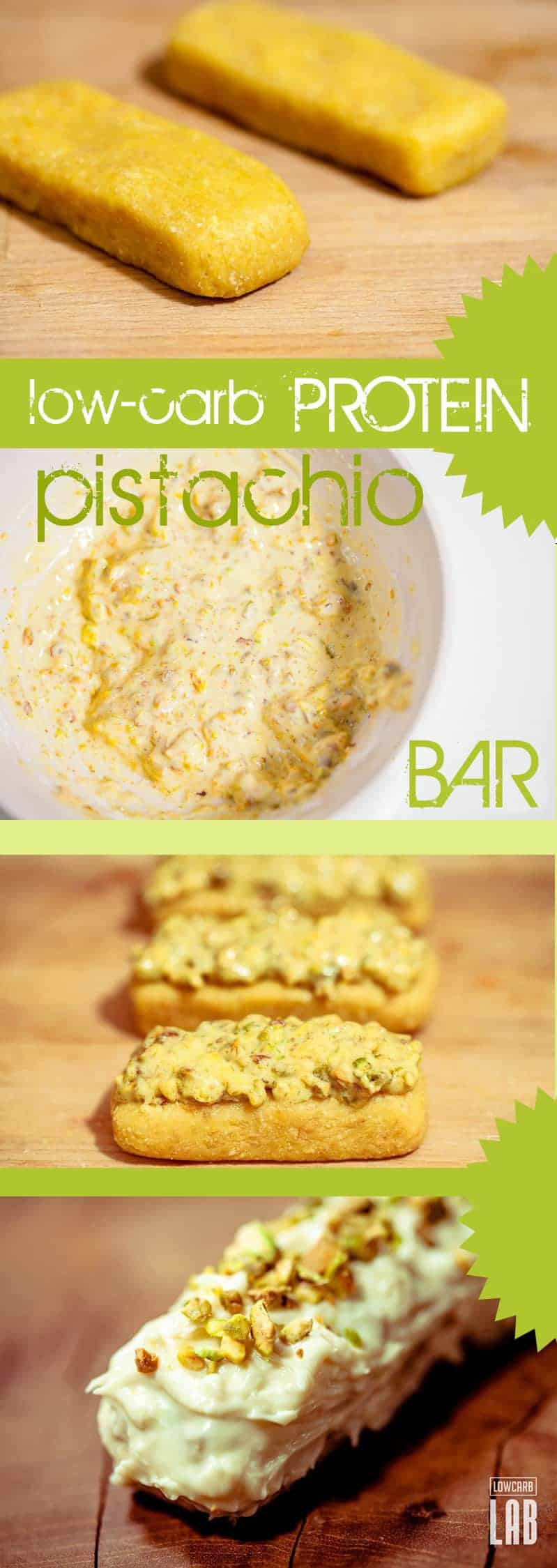 Low-Carb Protein Pistachio Bar