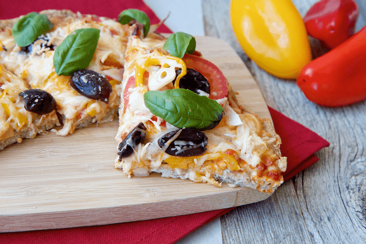 Guilt Free Chicken Crust Pizza
