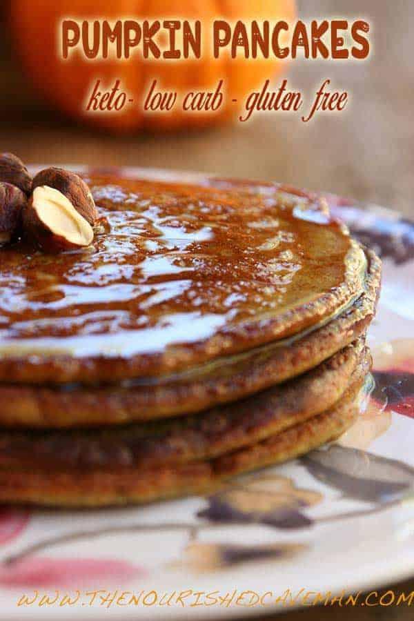 Keto Gluten Free Pumpkin Pancakes