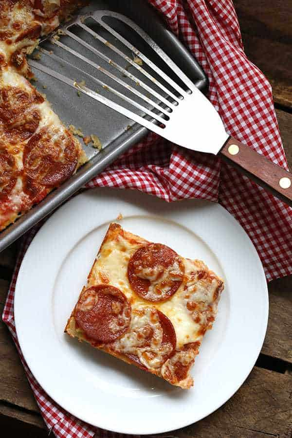 Easy Low Carb Pan Pizza