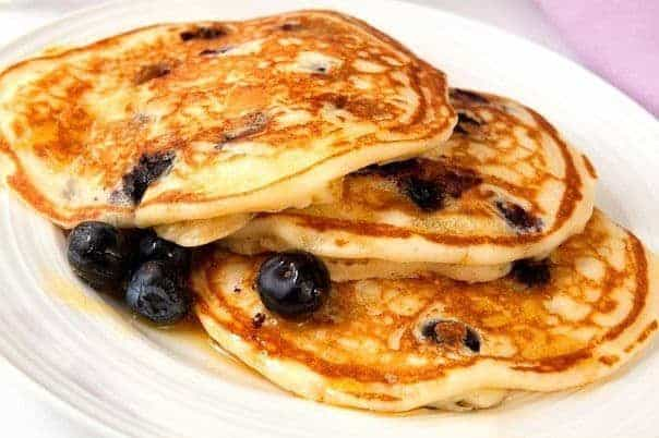 Grain Free Lemon Blueberry Pancake
