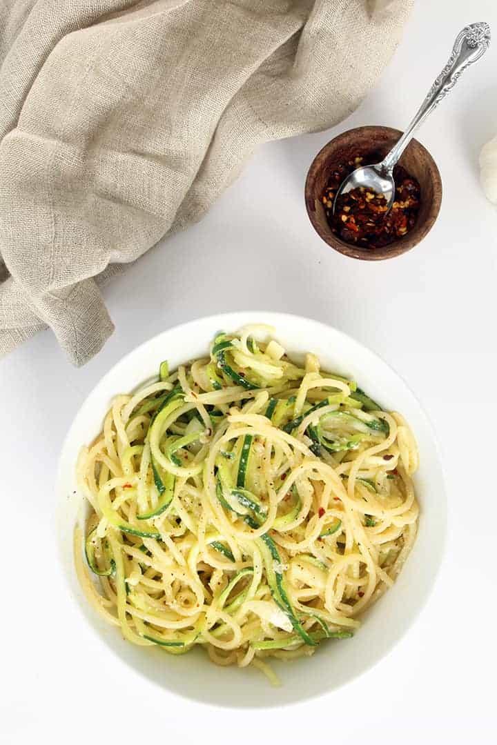 Garlic Parmesan Zucchini Noodles