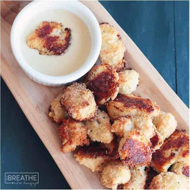 Cheesy Ranch Popcorn Chicken