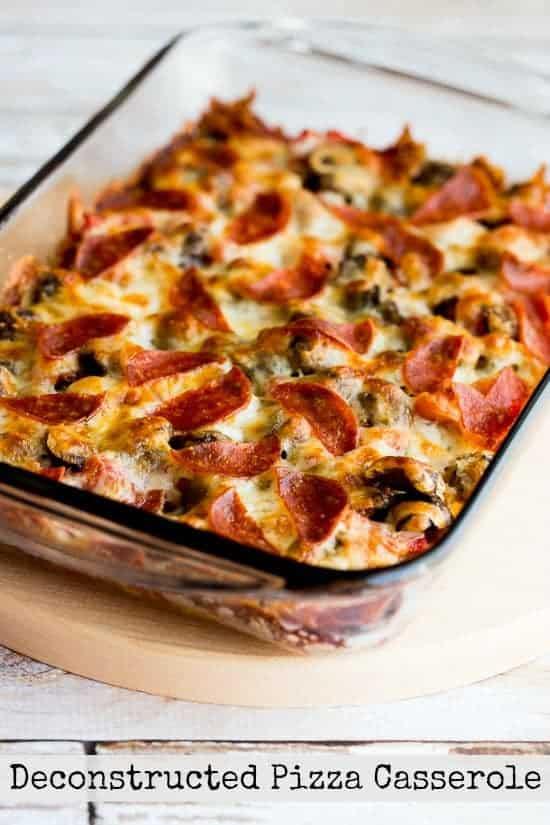 Deconstructed Pizza Casserole