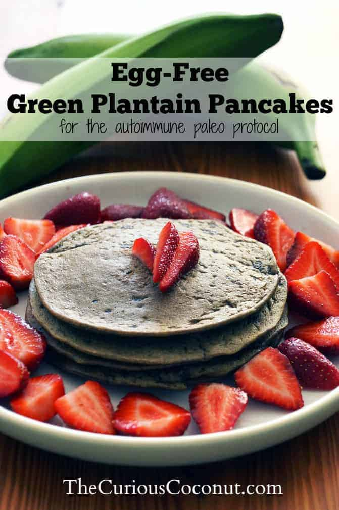 Egg Free Green Plantain Pancakes