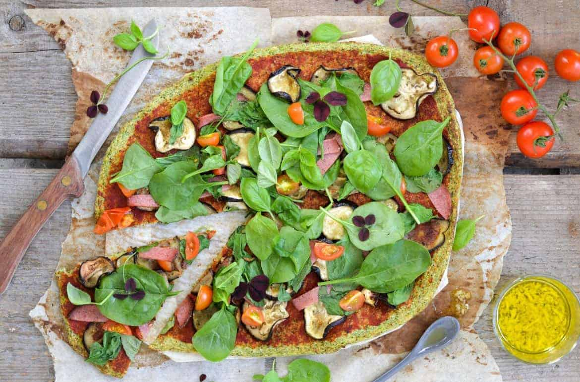 Green and Groovy Pizza