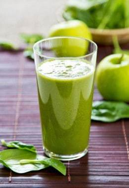 Spinach with Green Apple Diet Smoothie