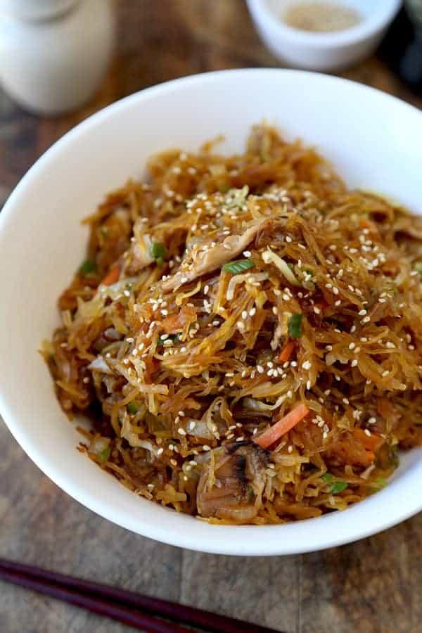 Yakisoba Spaghetti Squash Recipe