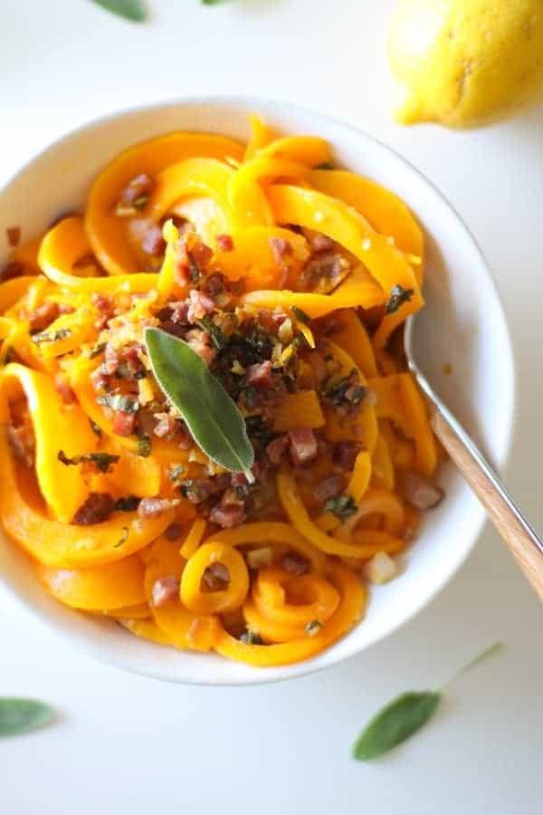 Butternut Squash and Prosciutto Pasta