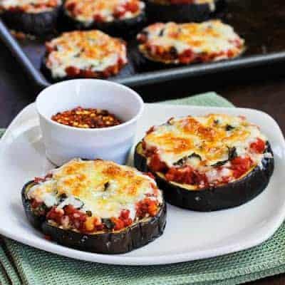 Julia Childs Eggplant Pizzas