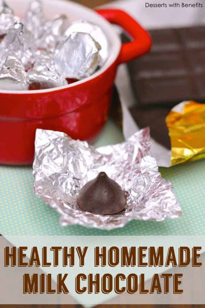 Healthy Homemade Milk Chocolate