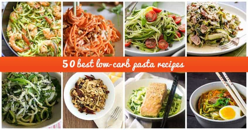 50 best low carb pasta recipes for 2016