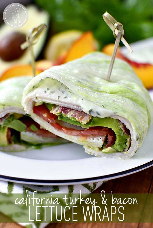 Wraps de laitue de dinde et de bacon de Californie