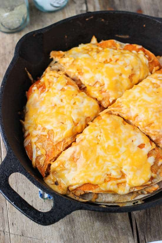 Buffalo Chicken Tortilla Pie