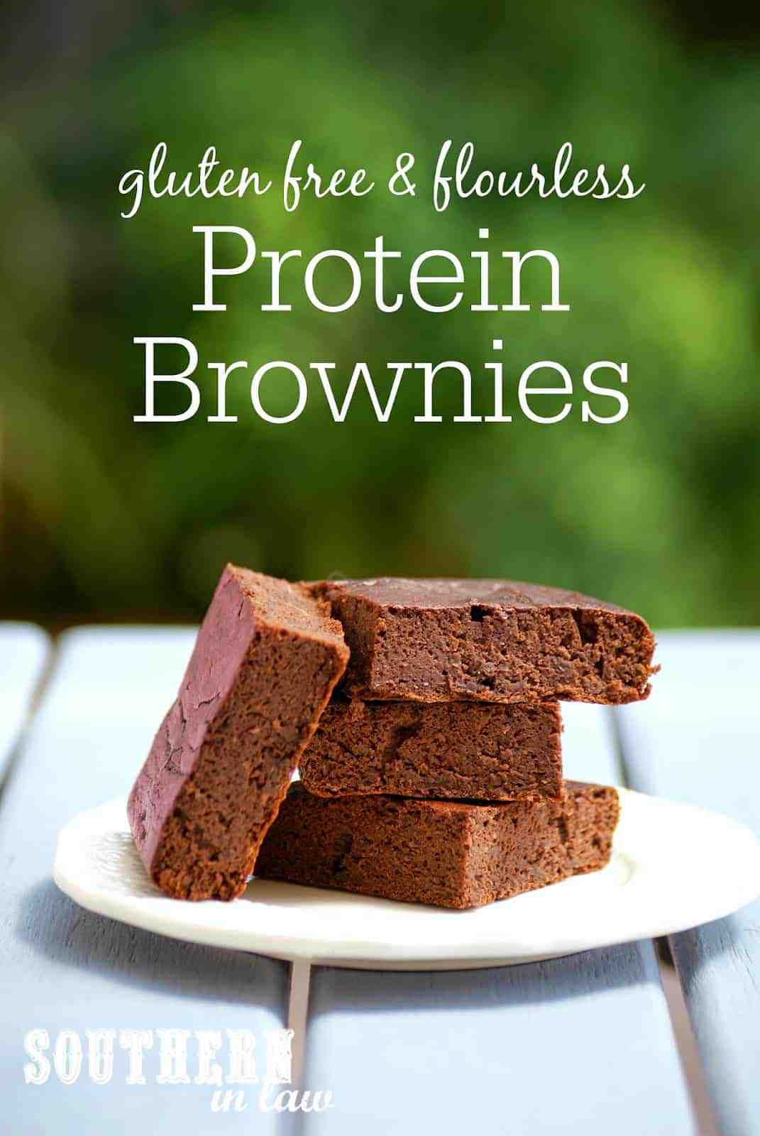 Healthy Flourless Protein Brownies