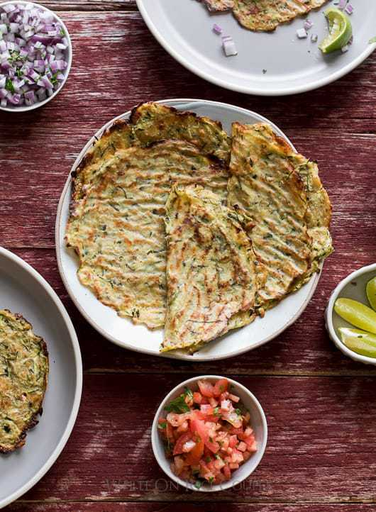 "Healthy Zucchini Soft ""Taco"" Tortilla Shells"