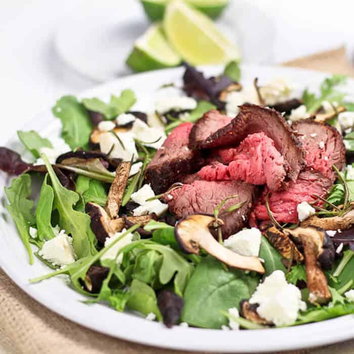 Restes de rôti de boeuf salade