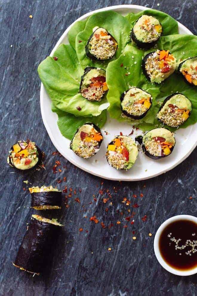Rouleaux de sushi végétarien