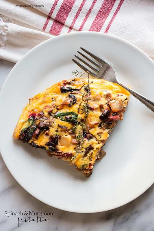 Red Spinach and Mushroom Frittata