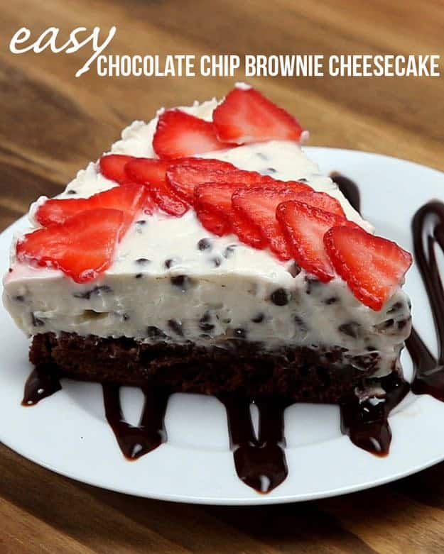 Chocolate Chip Brownie Cheesecake