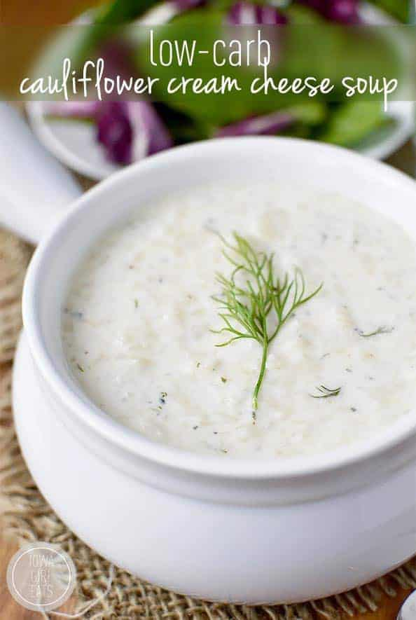 Low-Carb Cauliflower Cream Cheese Soup