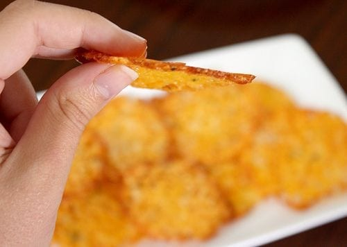 Baked Cheese Crisps