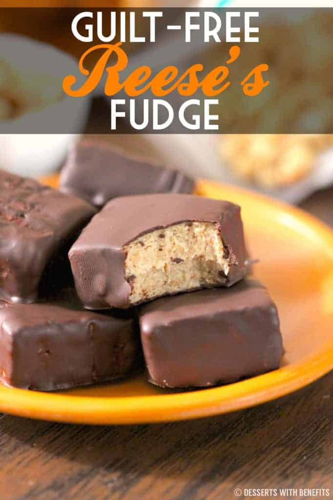 Healthy Reese's Fudge