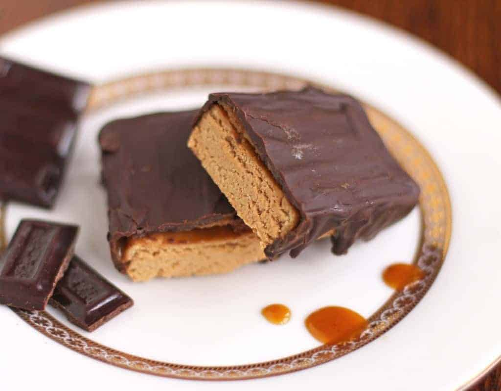 Healthy Fudgy Millionaire's Protein Bars