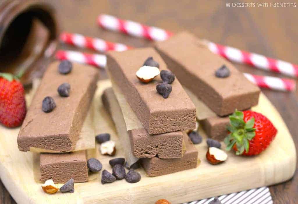 Healthy Nutella Fudge Protein Bars