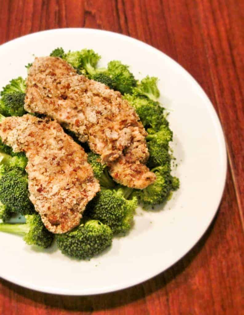 Low-Carb Pecan Crusted Chicken