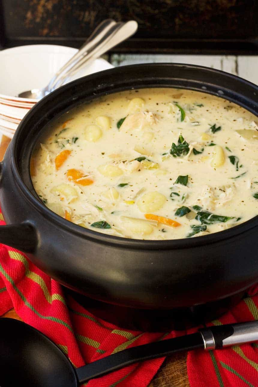 Crockpot Chicken Gnocchi Soup