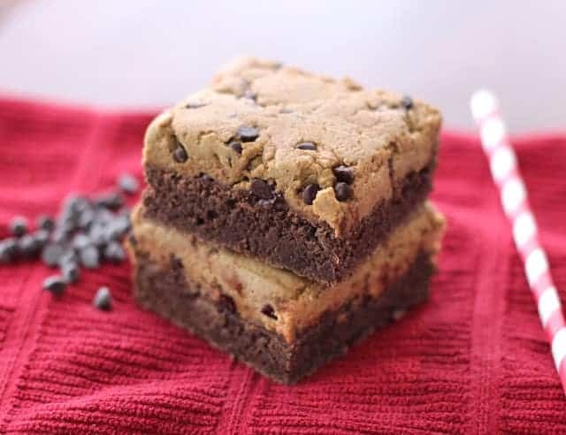 Healthy Cookie Dough Brownies