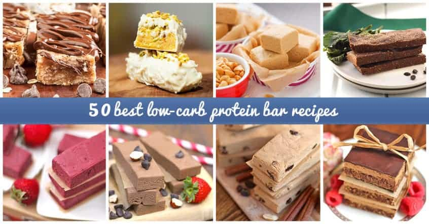 Low-carb protein bar recipes