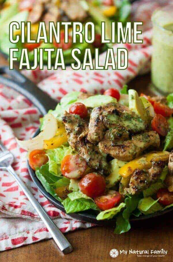Sizzling Cilantro Lime Fajita Salad With Honey Lime Vinaigrette