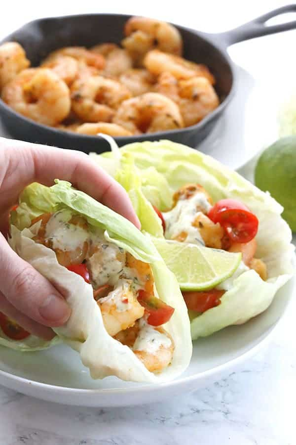 Thai Shrimp Lettuce Wraps