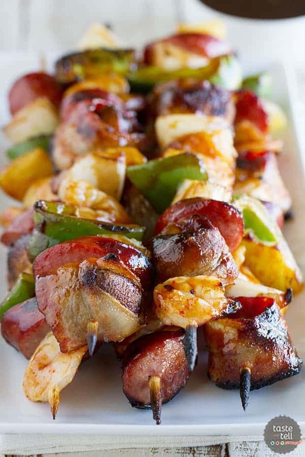 Grilled Shrimp Sausage Kabobs