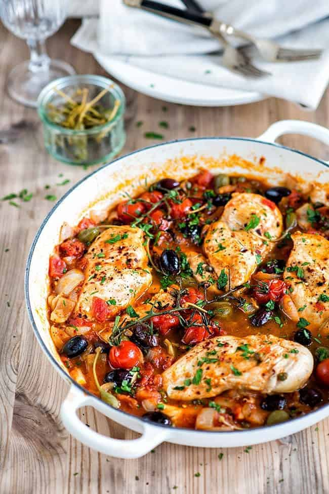Low-Carb Chicken Alla Puttanesca