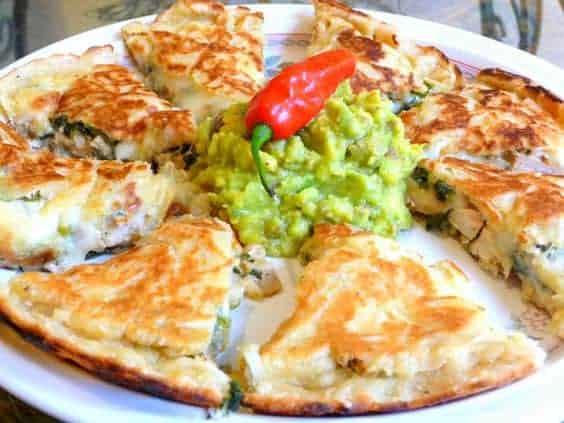 Molten Cheese Beef Or Chicken Quesadillas
