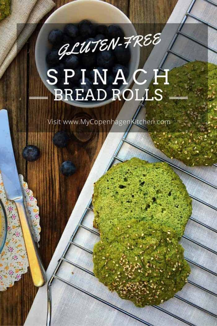 Sweet Spinach Bread Rolls