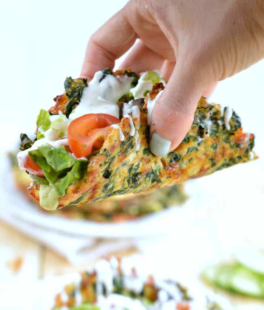Soft Taco Recipe With Spinach  Low Carb Taco Shells
