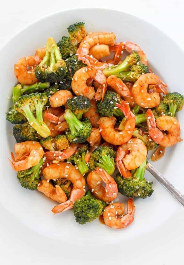 20 Minute Skinny Sriracha Shrimp And Broccoli