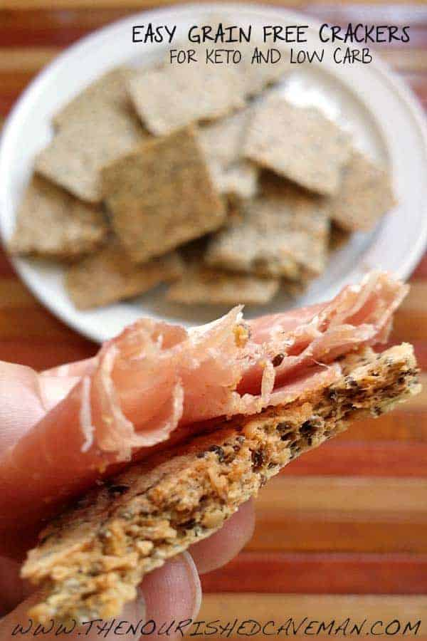Easy Grain Free Crackers