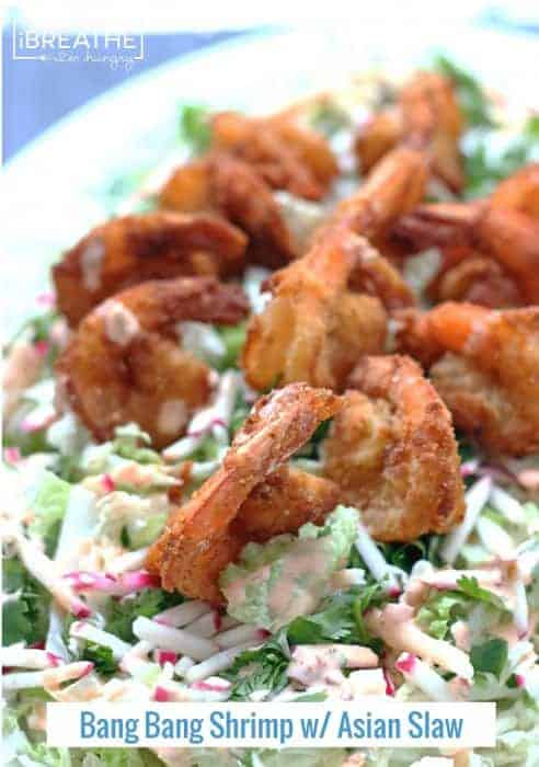Low-Carb Bang-Bang Shrimp with Asian Slaw