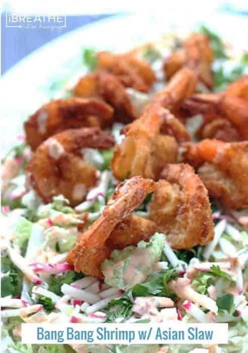 Low-Carb Bang-Bang Shrimp with Asian Slaw