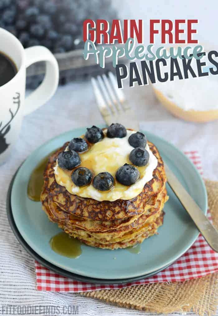 Grain Free Applesauce Pancakes