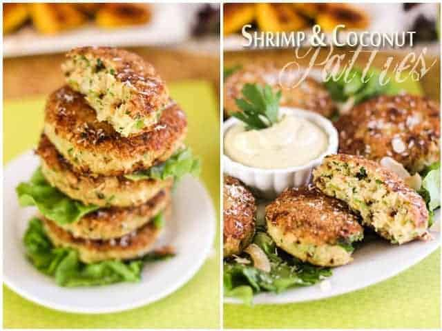 Coconut and Shrimp Patties with Avocado Mayo Dipping Sauce