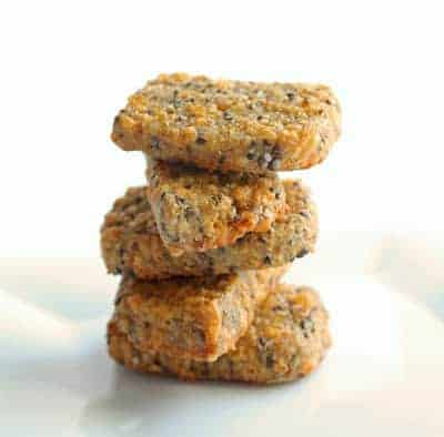 Cheesy Flax and Chia Seed Cracker