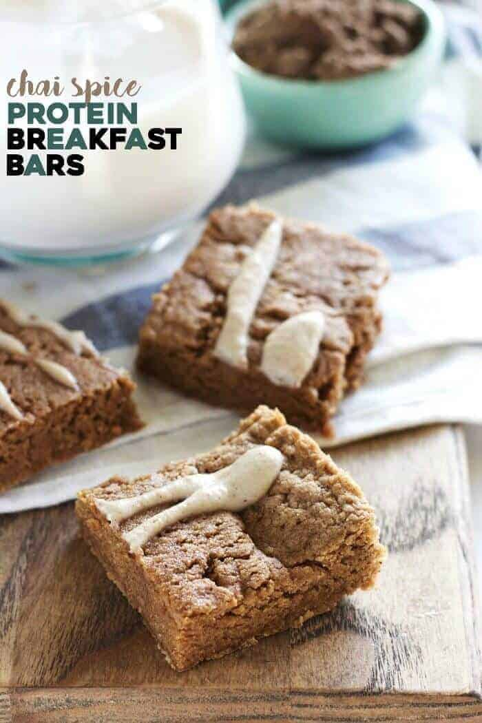 Chai Spice Protein Breakfast Bars