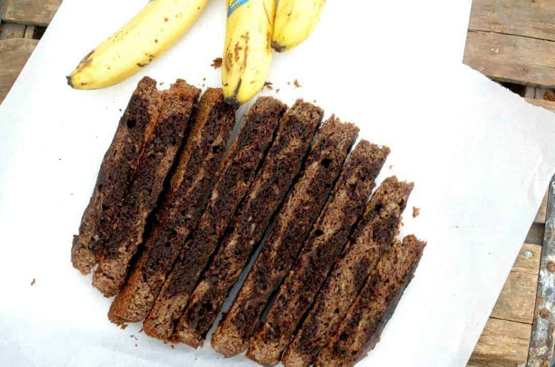 Slow Cooker Paleo Banana Bread With A Mocha Swirl