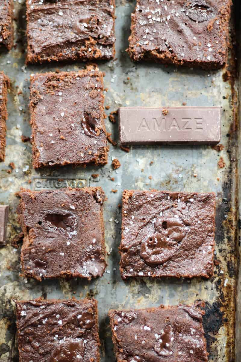 Superfood Chocolate Chunk Paleo Coconut Flour Brownies